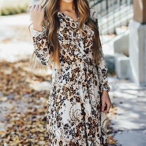 Free People Floral Shirt Dress